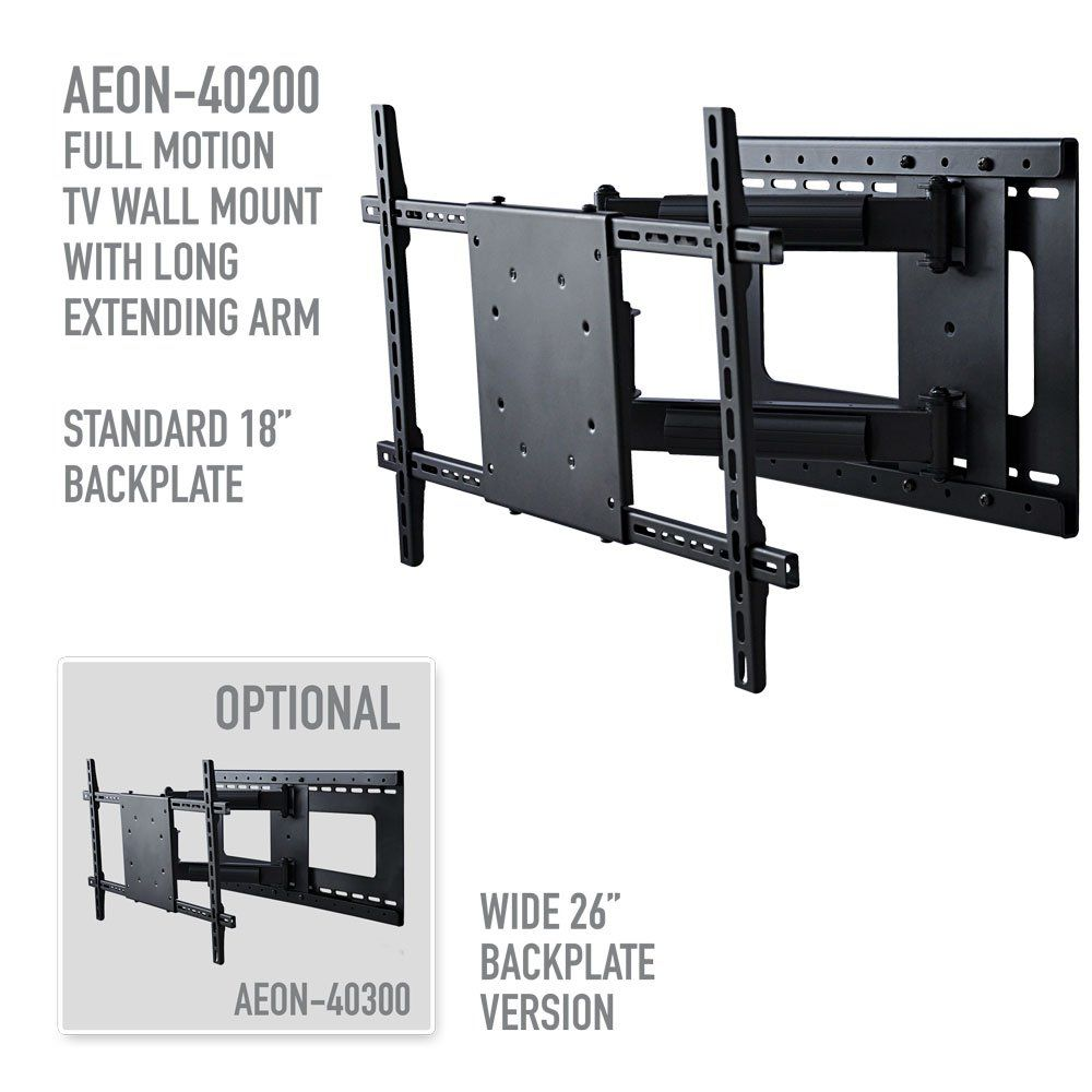 Aeon Stands And Mounts Compatible With Vesa 600x400 Full Motion Tv Wall Mount With Included Hdmi Cable Fits Full Motion Tv Wall Mount Wall Mounted Tv Tv Wall