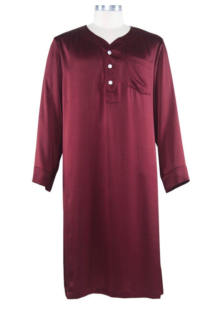 8958d3798a men s silk nightshirt Men s Robes