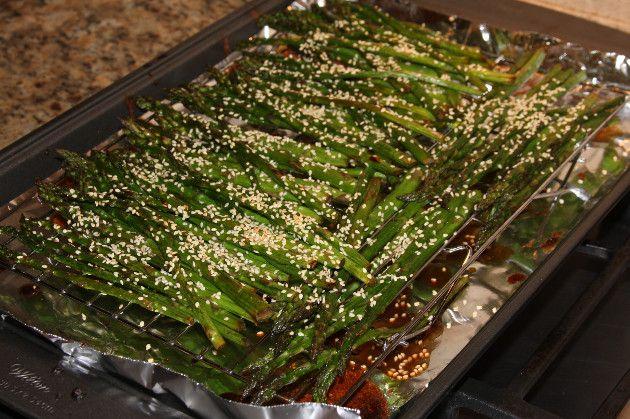 Teriyaki Sesame Asparagus - Via Newman Family Meals