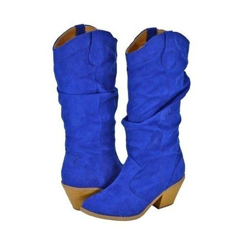 royal blue cowboy boots women | ... Women Cowboy Boots, Qupid Muse ...