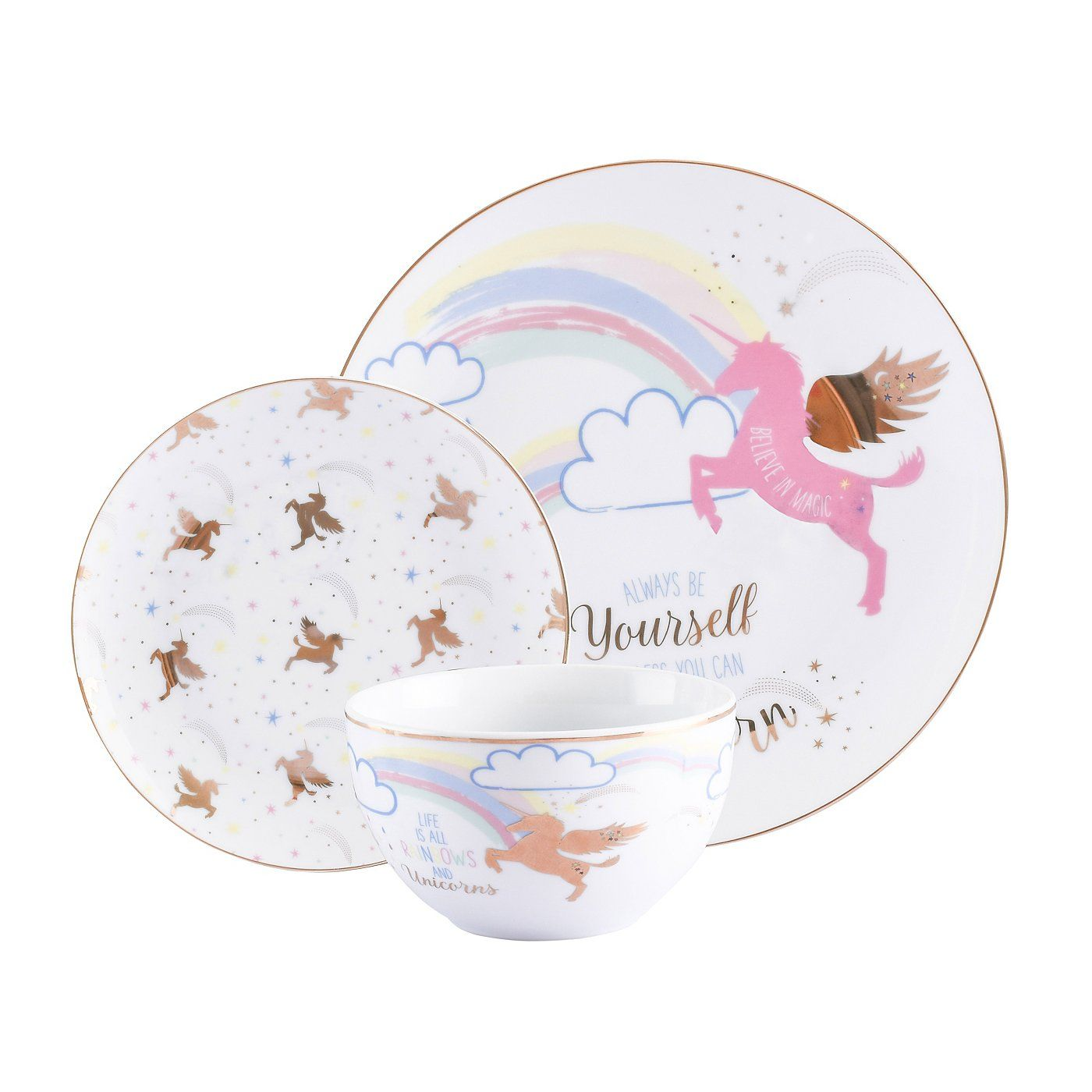 unicorn tableware range read reviews and buy online at george at asda shop from our latest range in home garden unicorn and glitter unicorn unicorn plates pinterest