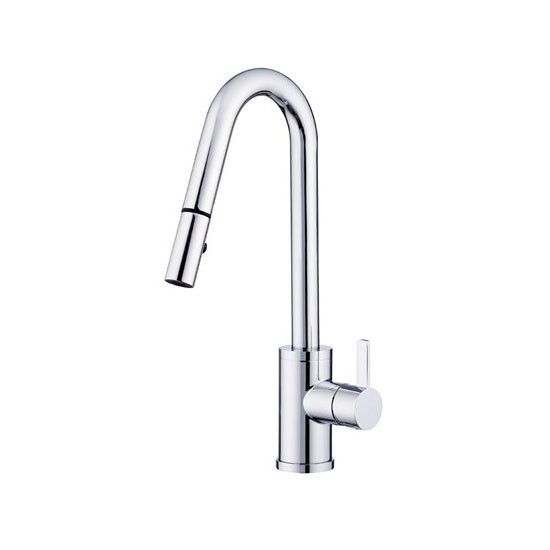 Danze D457030 Chrome Amalfi Pullout Spray Kitchen Faucet With 360
