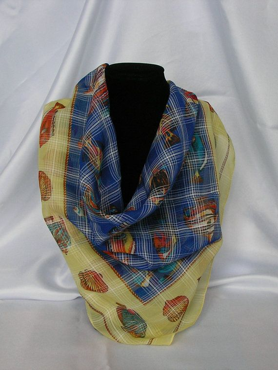 Vintage Feliciani Scarf Pattern fish and от MyLovelyEarrings