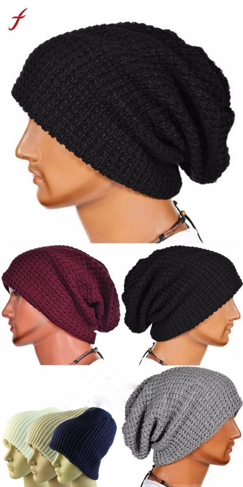 b07c0a6098f 2018 warm fashion winter hat for men knitting hat cap women beanie hat cap  skullies beanies elastic hats drop shipping  cotton