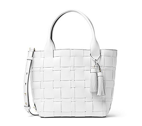 MICHAEL Michael Kors Vivian Medium Tote Optic White Micha-$334.00