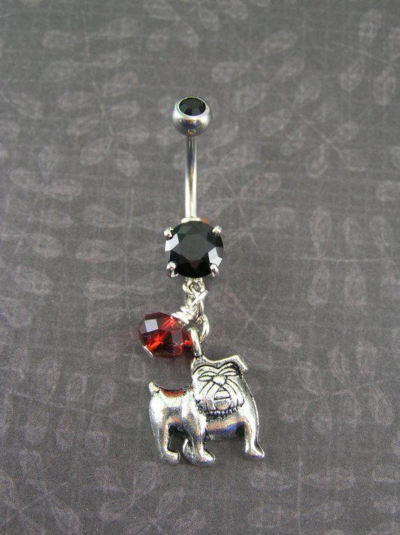Bulldog Belly Button Ring