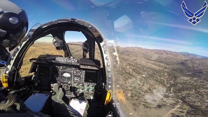 A Pilot S View From His A 10 Thunderbolt S Cockpit During A Joint