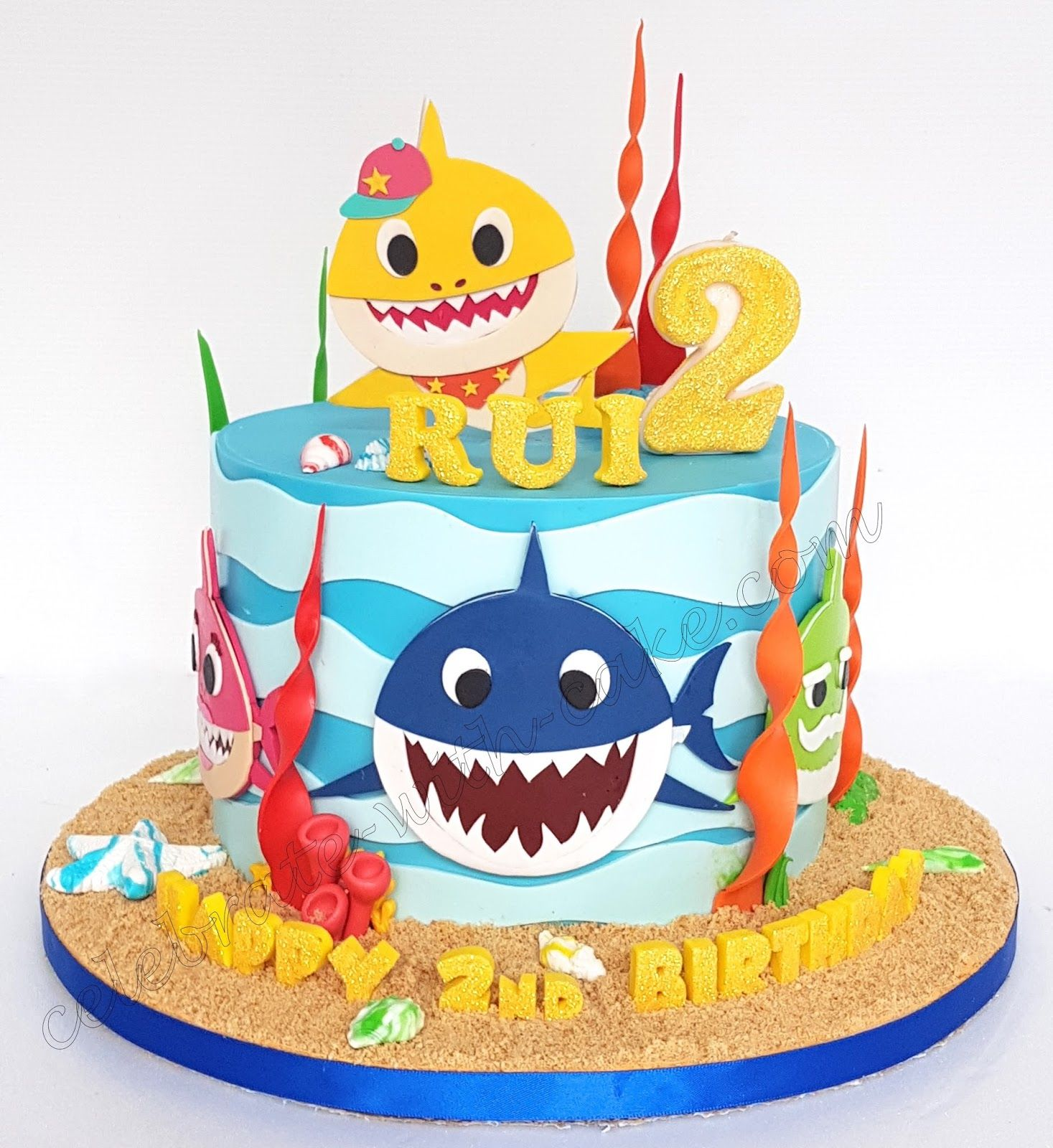 Celebrate With Cake Baby Shark Single Tier Beauty