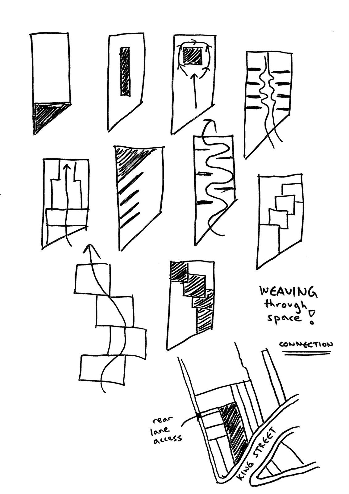 Circulation Sketchs Architecture Concept Drawings Plan Museum Parti Diagram Site