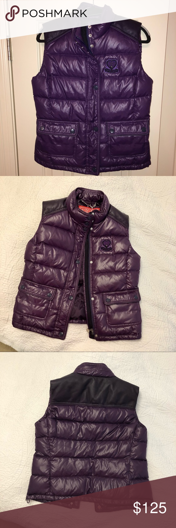 New Coach Puffer vest jacket size medium in 2020 Vest