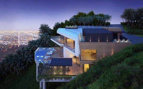 Cantilever Hillside Home Interior Design Ideas Pics Photos Modern