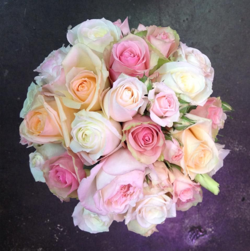 Sweet sweet roses wedding bouquet by Funky Bunches
