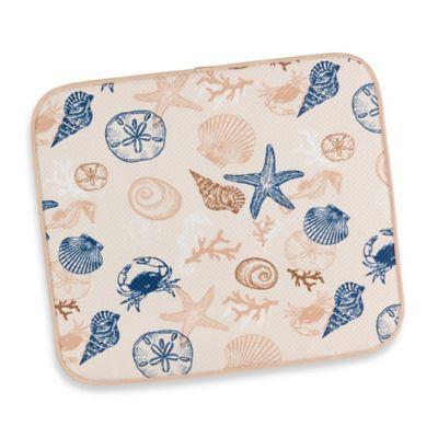 Seashells Dish Drying Mat Seashell Dishes Dish Drying Mat