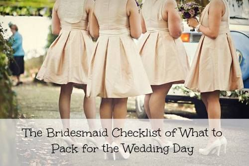 The Bridesmaid Checklist of What to Pack for the Wedding Day