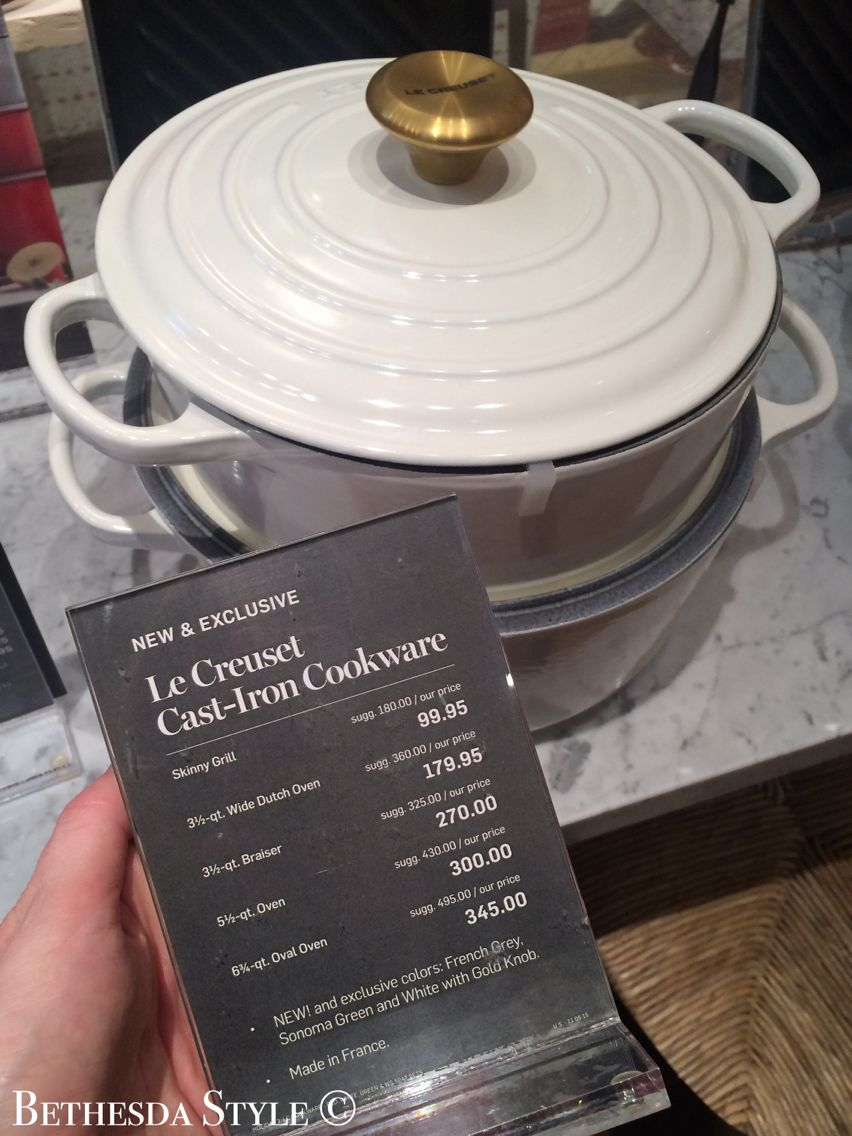 BethesdaStyle ~ Williams-Sonoma ~ Le Creuset Cast Iron Cookware ...