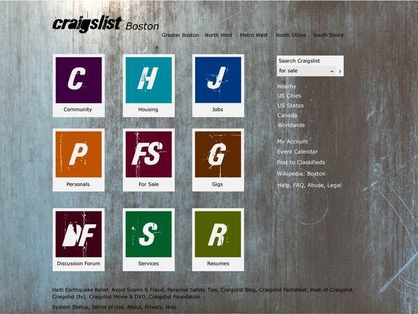 Craigslist Redesign Craigslist Redesign Event Calendar