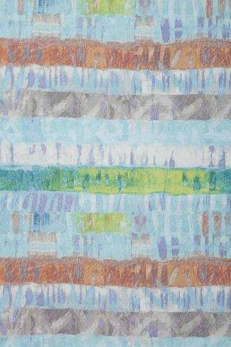 Marcia Derse Sline Beach Towel Stripe Blue Green Stone Fabric 5 Yd