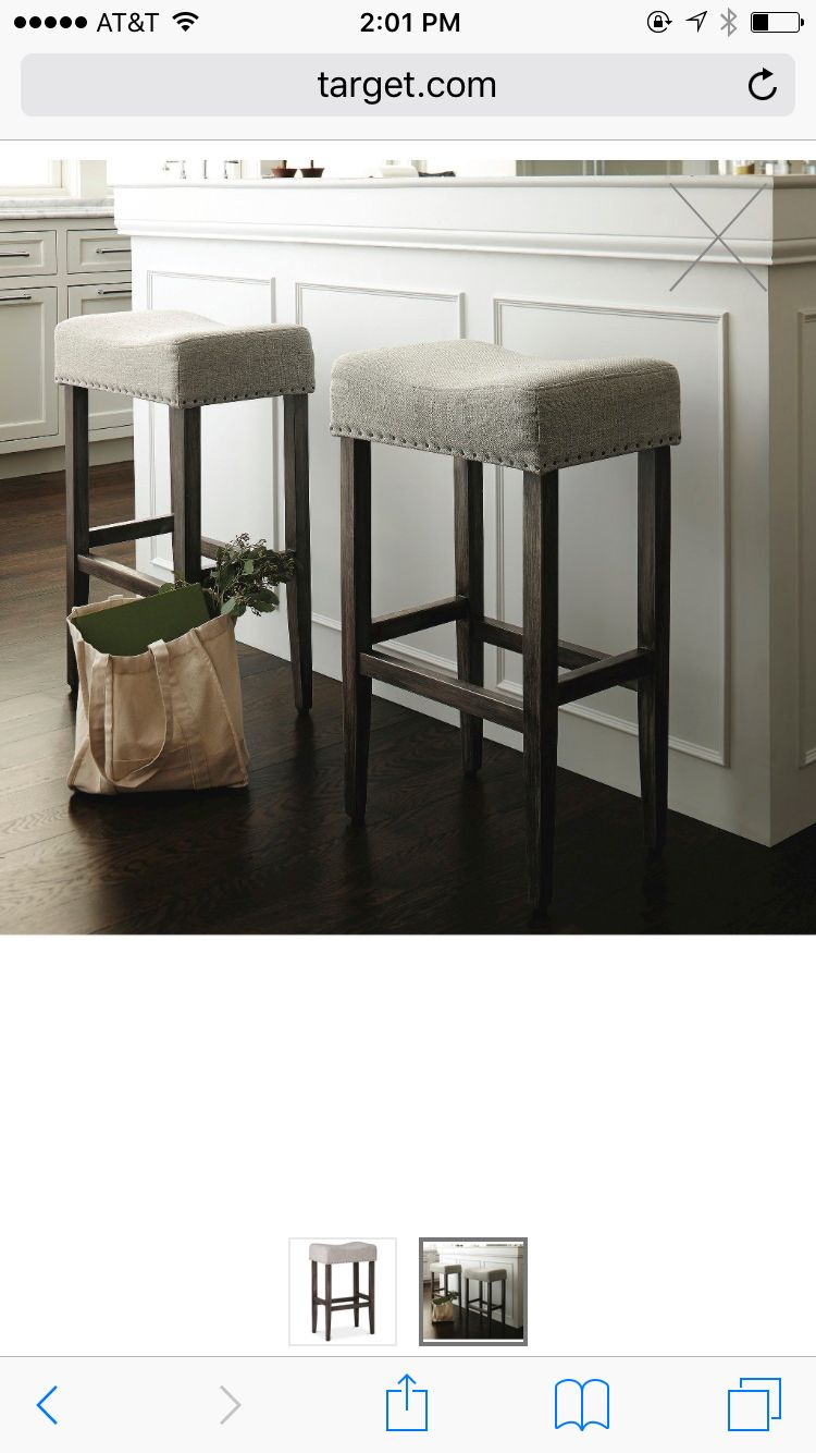 Target Threshold Linen Saddle Barstool Grey House Inspo Bar