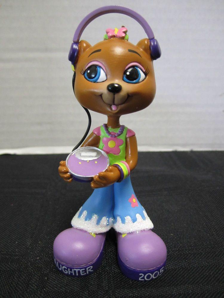 American Greeting Christmas Ornaments Part - 47: Daughter Christmas Ornament Bear Bellbottoms Headphones American Greetings  2005