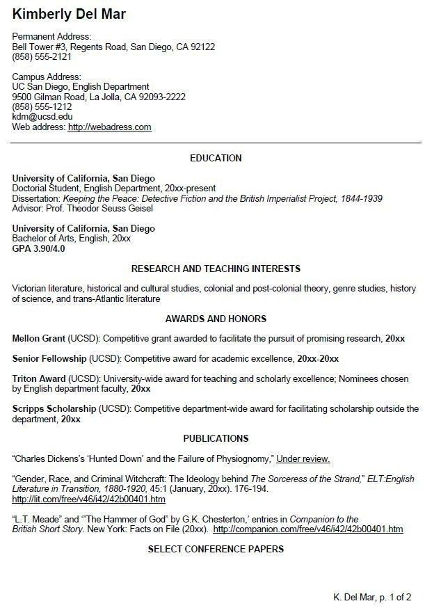 Cv Template Undergraduate Student Student Resume Template