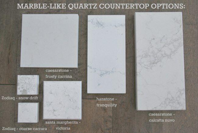Kitchen Countertop Options Quartz That Look Like Marble Kitchen Countertop Options Kitchen Quartz Counters Kitchen Remodel Countertops