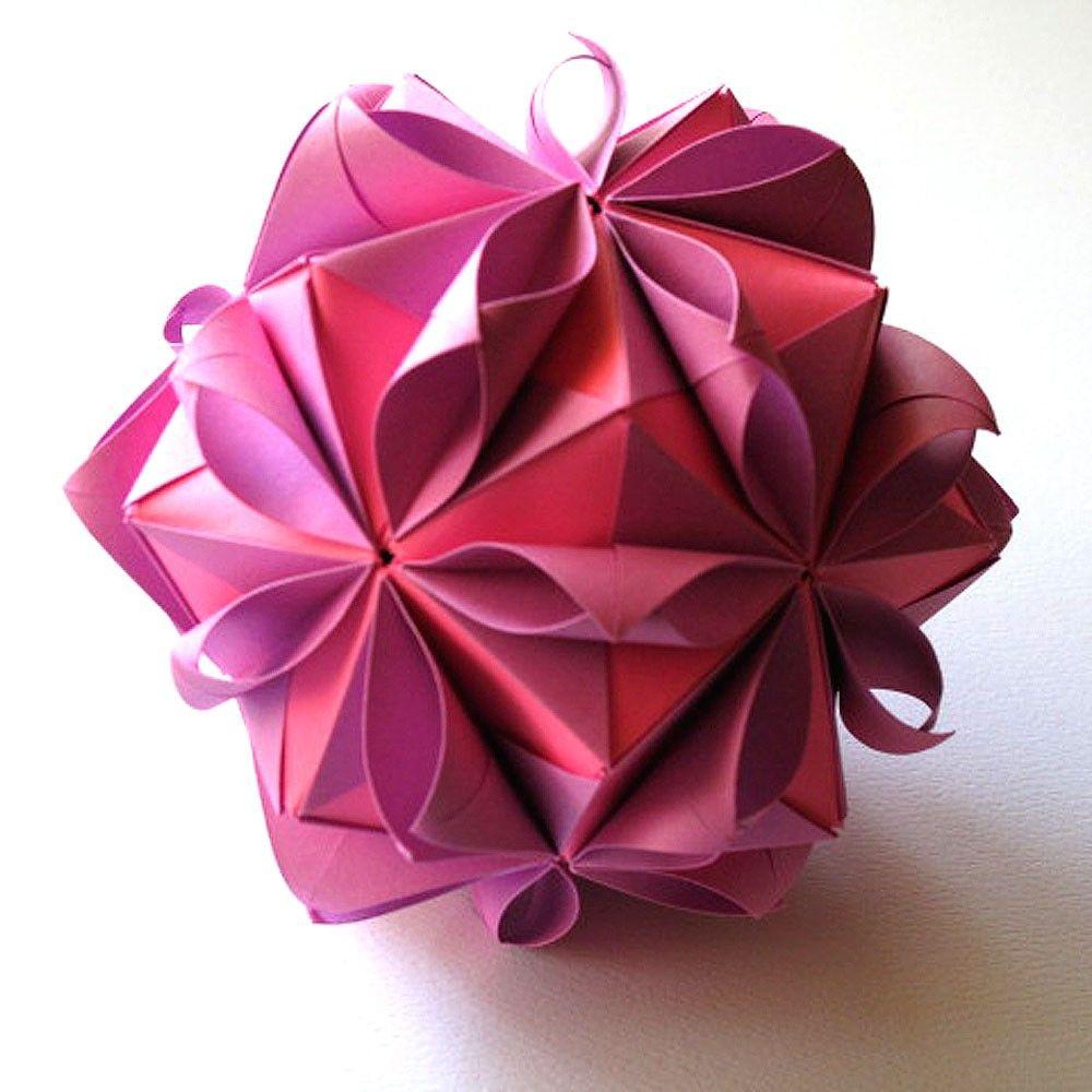 Origami Flowers Flower Ball By Fanshefolds On Etsy Rosa Bird Curler Diagram Kusudama Me Craftsorigami Pinterest