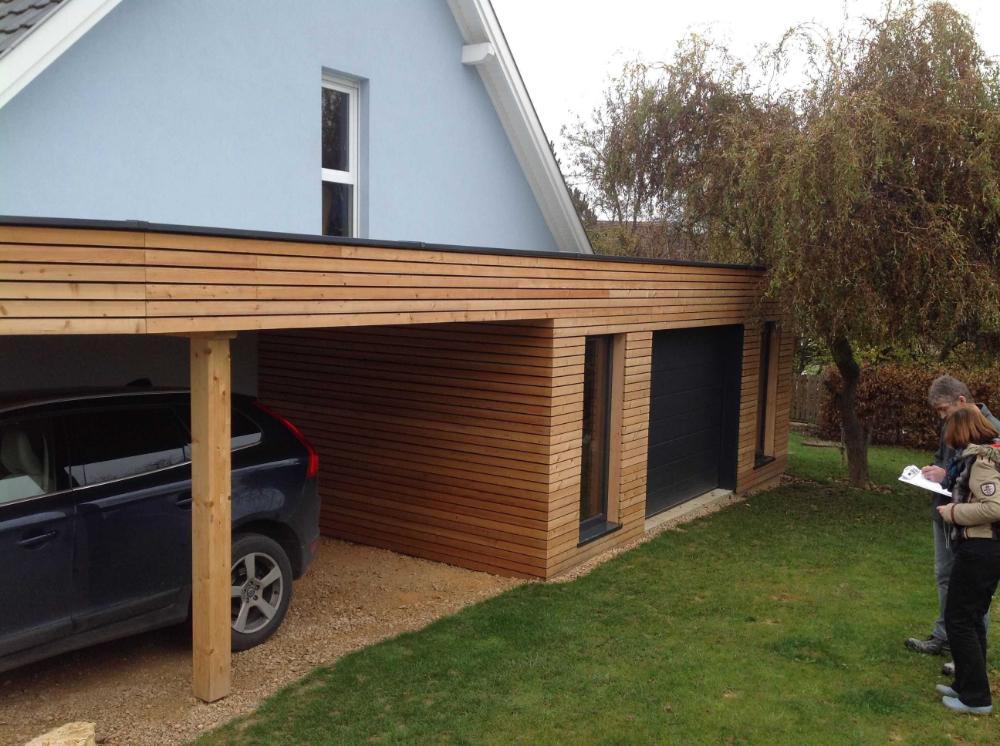 Extension Garage Bois Toit Plat Avec Da Co Garage bois