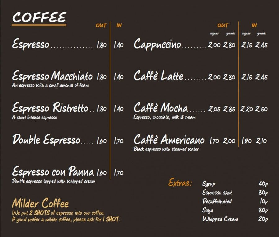 best coffee shops in the world menu - Buscar con Google coffee - coffee menu