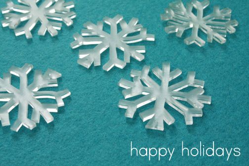 shrink plastic snowflakes