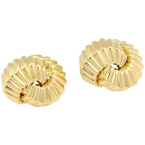 Pre-owned Tiffany & Co. 18K Yellow Gold Fancy Ridged Knot Earrings (2,435 CAD) ❤ liked on Polyvore featuring jewelry, earrings, tiffany & co jewelry, 18 karat gold earrings, pre owned jewelry, fancy jewelry and yellow gold jewelry