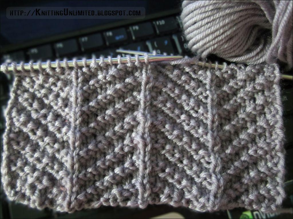 Knit-Purl Combinations: Pattern 3 - Herringbone Texture - Knitting ...