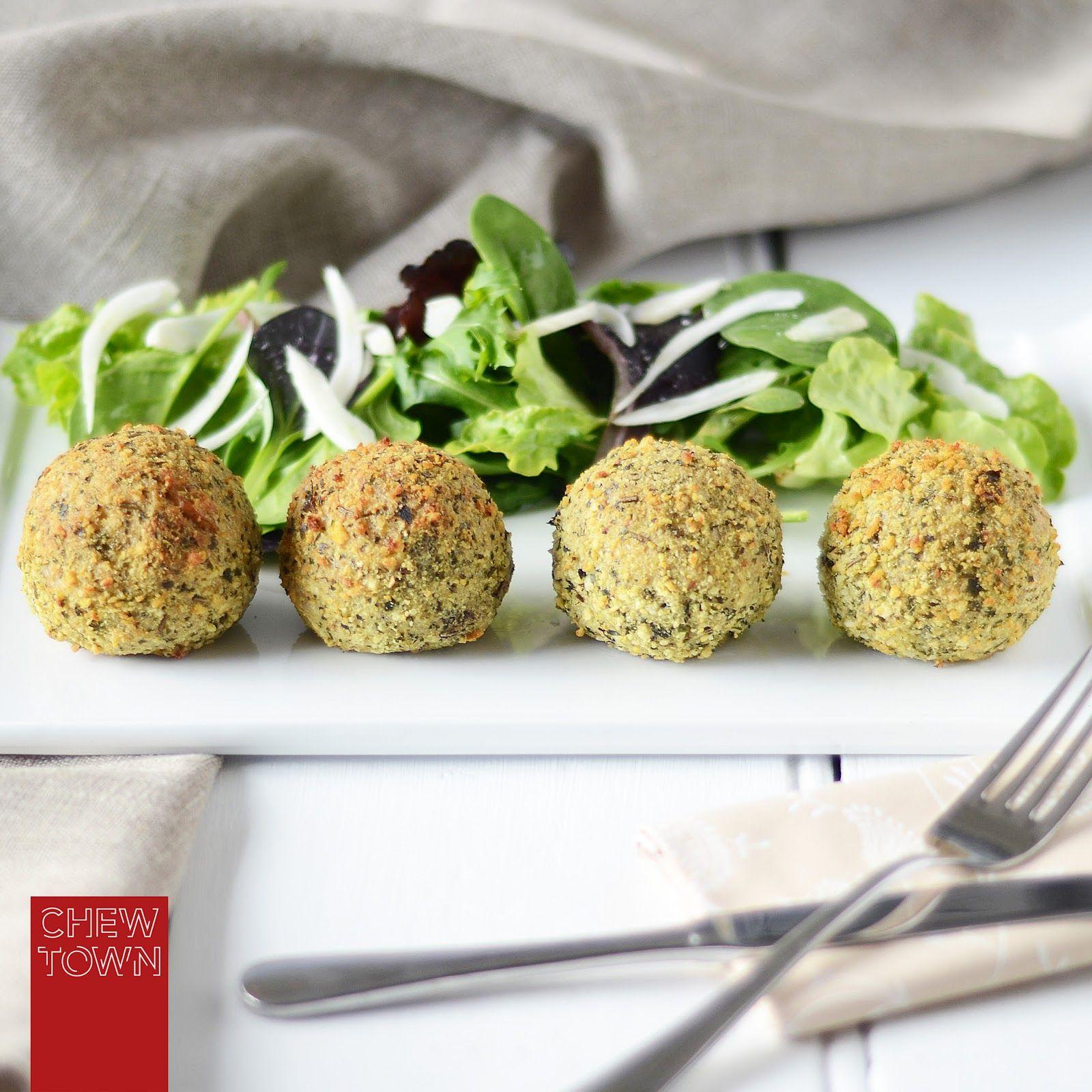 Baked Mushroom Arancini (Risotto Balls) {Via Chew Town}