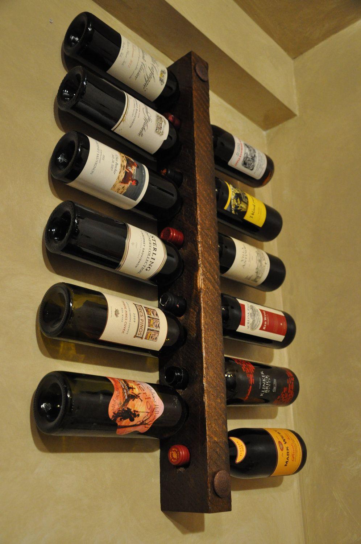 Wall Mounted Wine Rack 12 Bottle Vertical