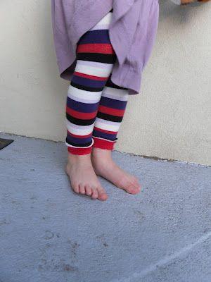 Footless tights tutorial.  Dig it.