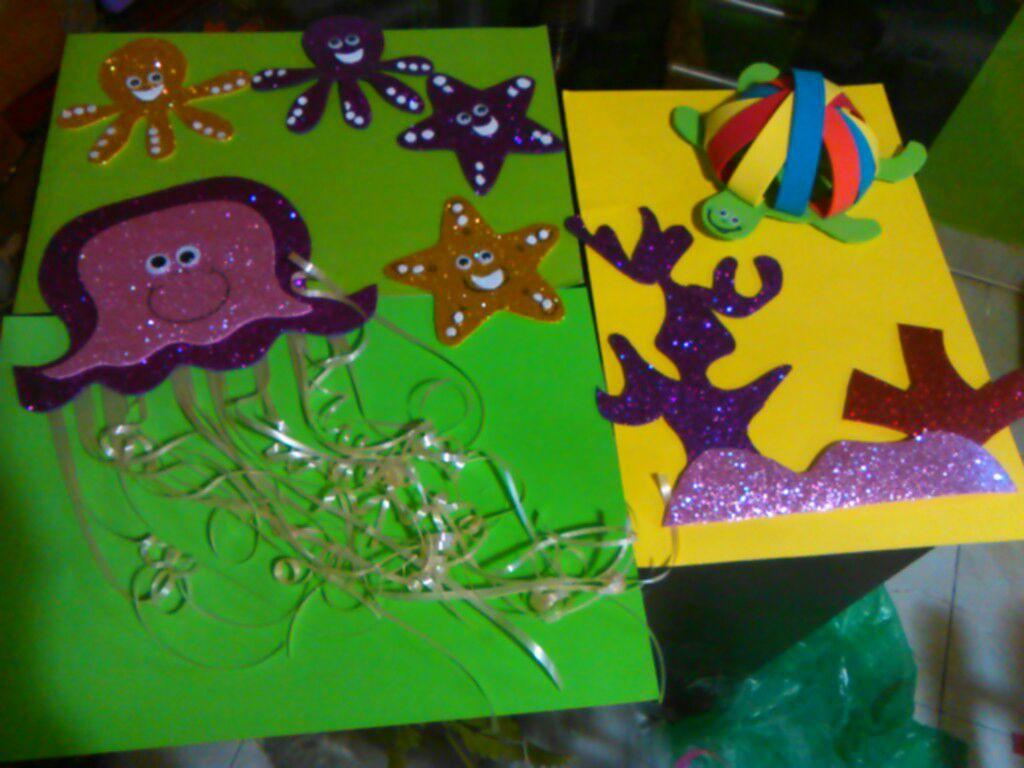 Animales Del Mar Para Mural Animales Acuaticos Foami