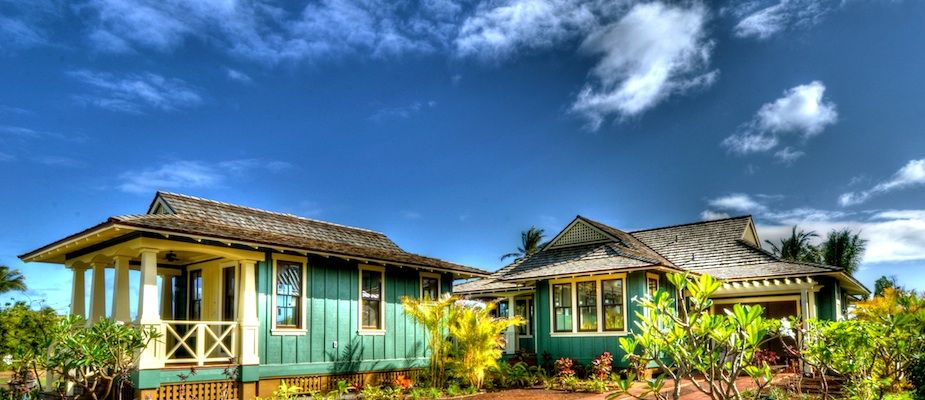 Nice color combination note the board and batten look for Hawaiian plantation style home plans