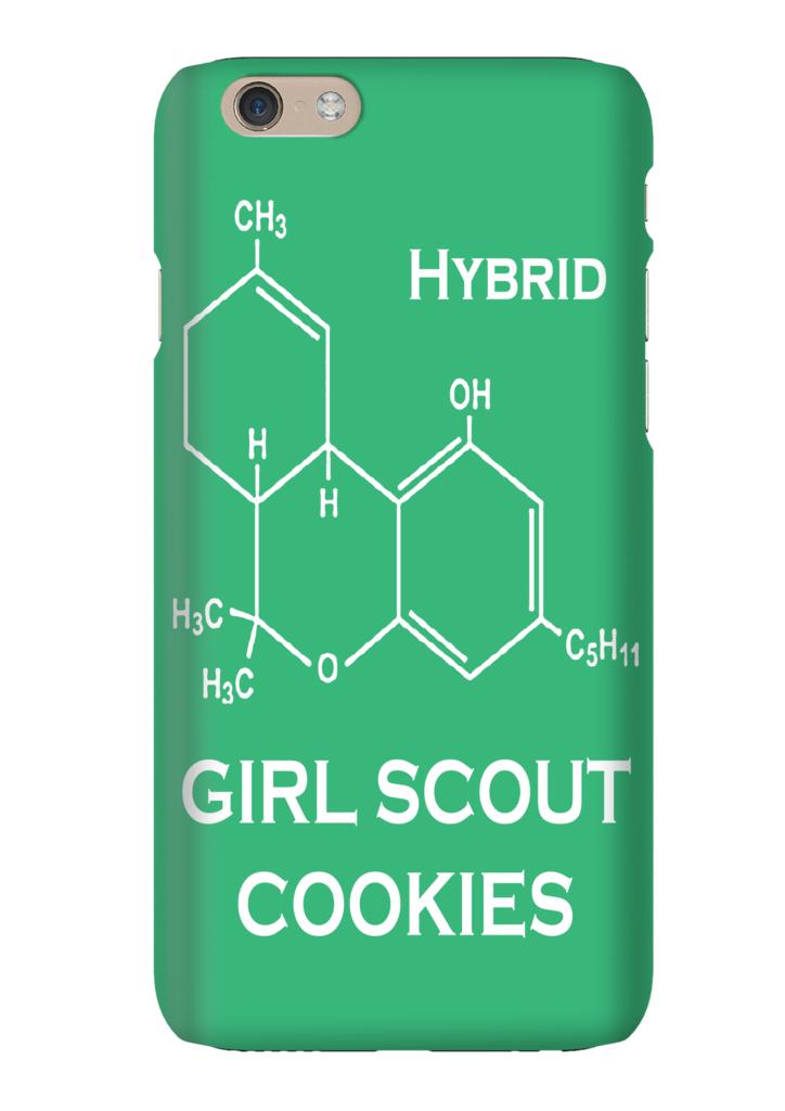 girl scout cookies hybrid strain weed marijuana phone case