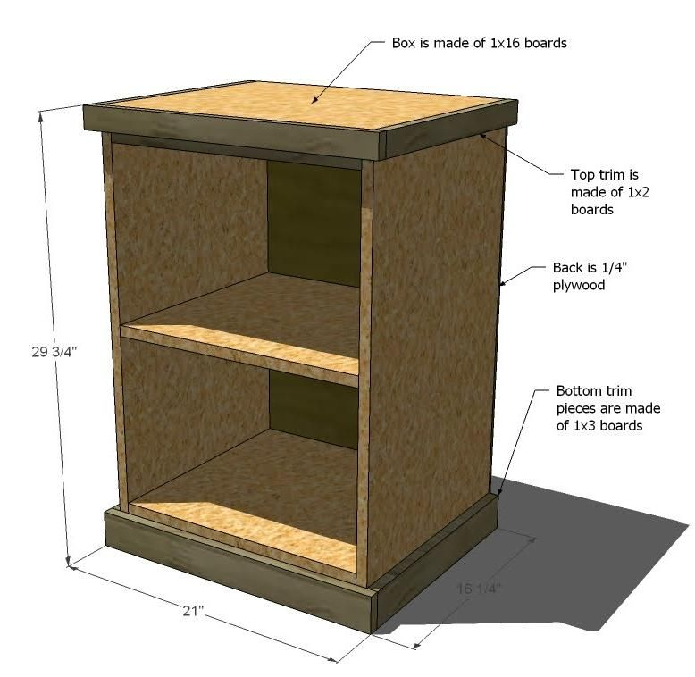 Ana White | Build A Build Your Own Office   Narrow File Drawer Base Unit |