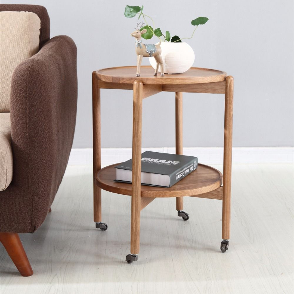 Console Tables Living Room Furniture Home Furniture oak two layer ...