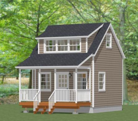 16x16 house w loft pdf floor plans 512 by for 14x14 cabin with loft