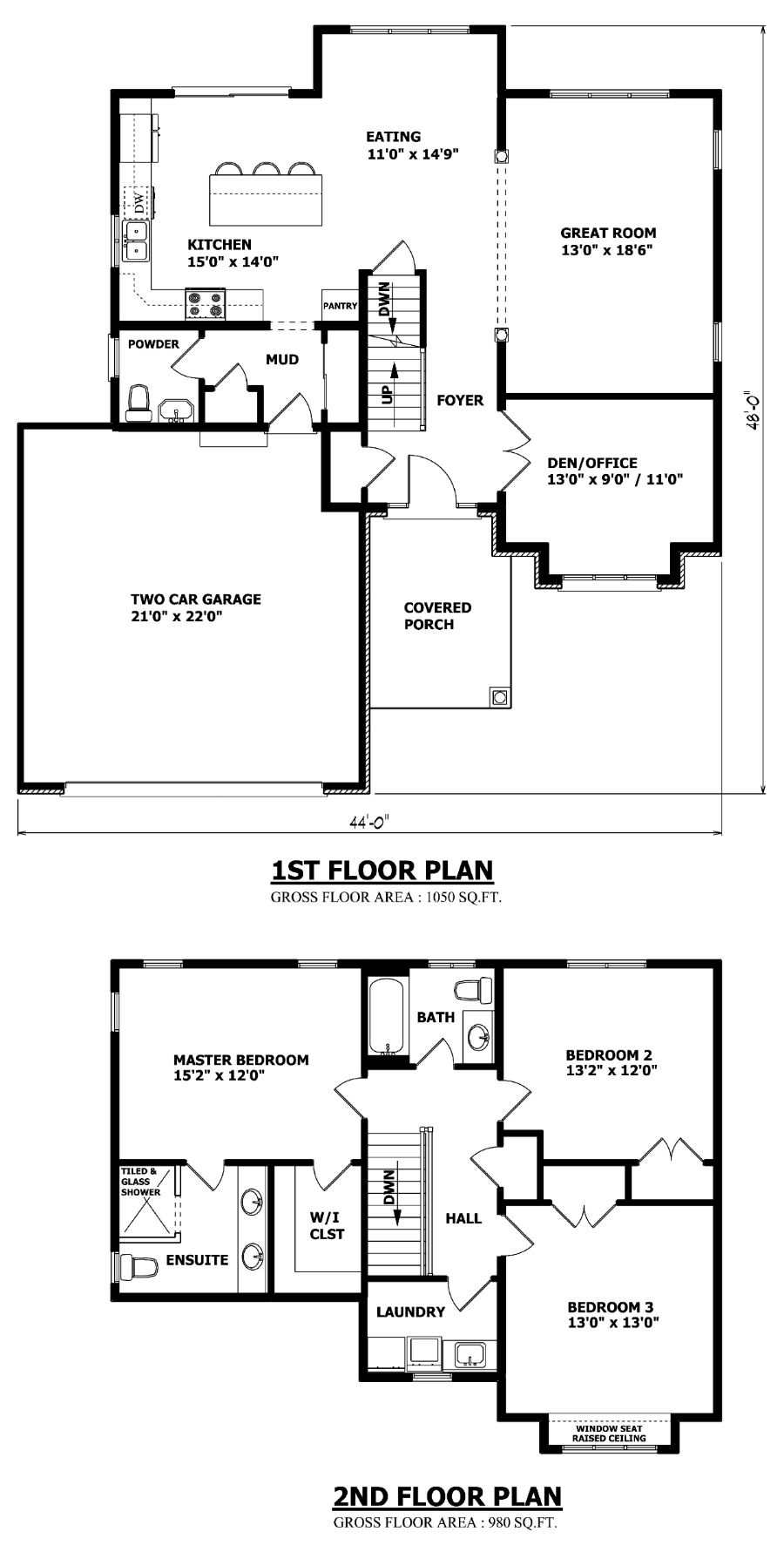 Brampton two storey house plan dream home pinterest for Garage plans ontario