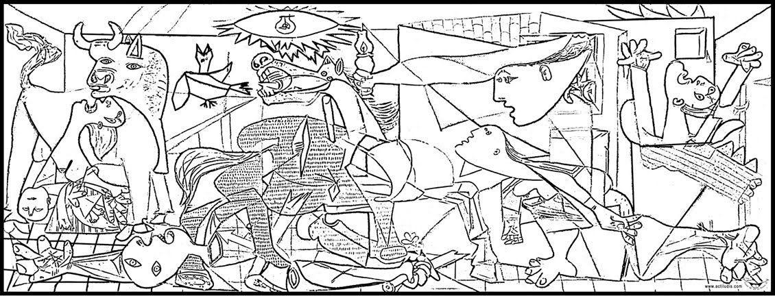 Colorear El Guernica De Picasso Atividades De Artes Visuais Sp Arte Arte Infantil