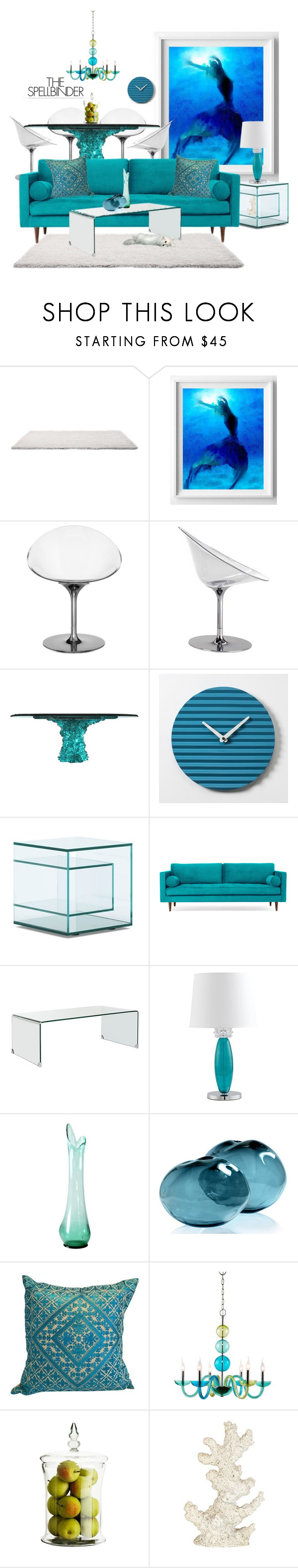 """""""36-Mermaid Tales Contest"""" by neicy-i ❤ liked on Polyvore featuring interior, interiors, interior design, home, home decor, interior decorating, Kartell, Joybird, Cyan Design and Gwyneth Shoes"""