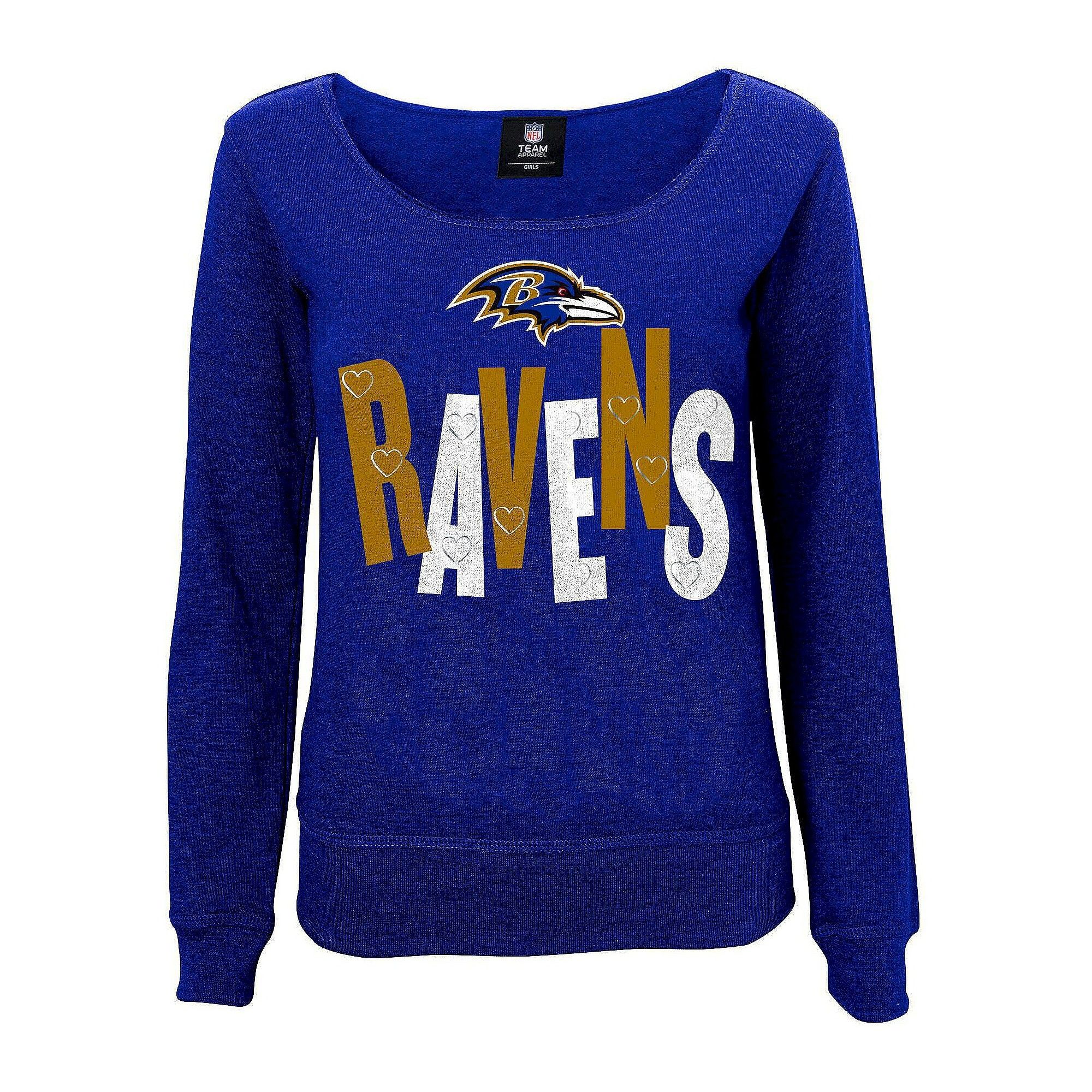 Baltimore Ravens Girls Open Neck Fleece XL 7a2e7b62e