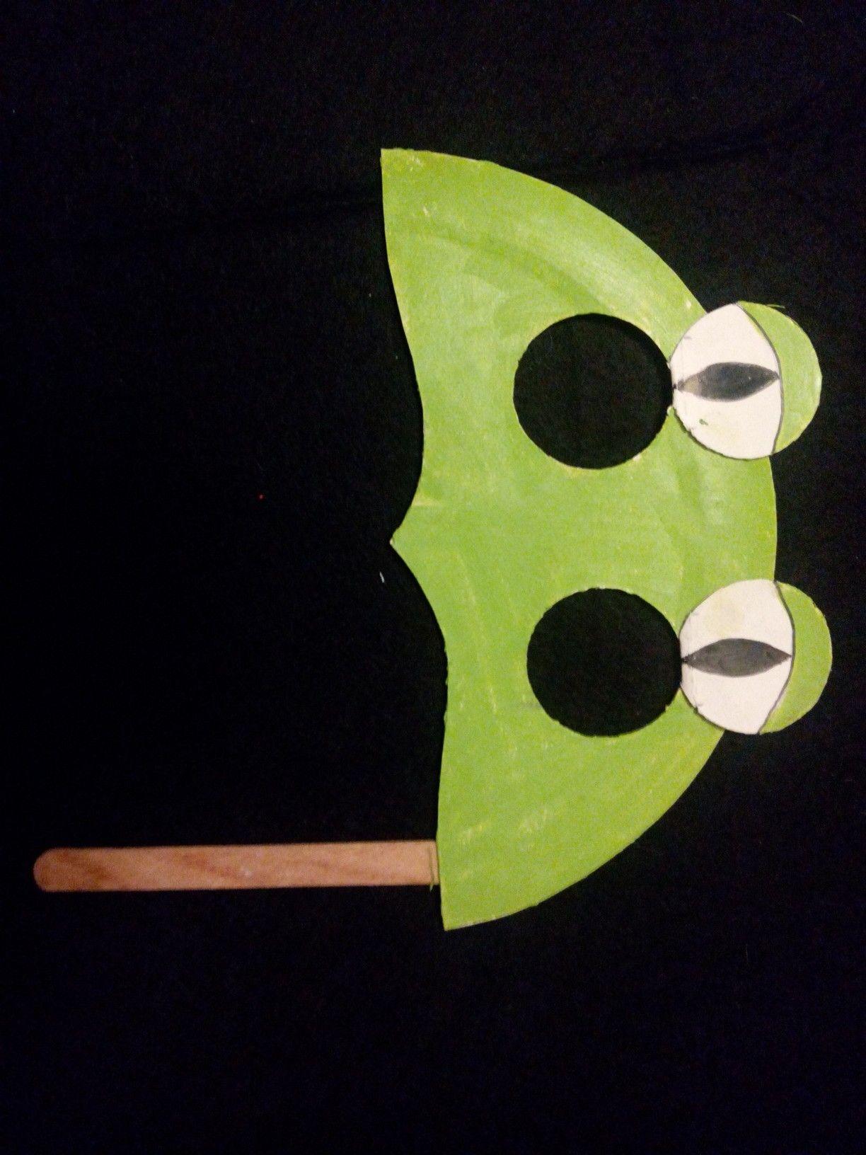frog paper plate mask | For kids | Paper plate masks, Mask for kids