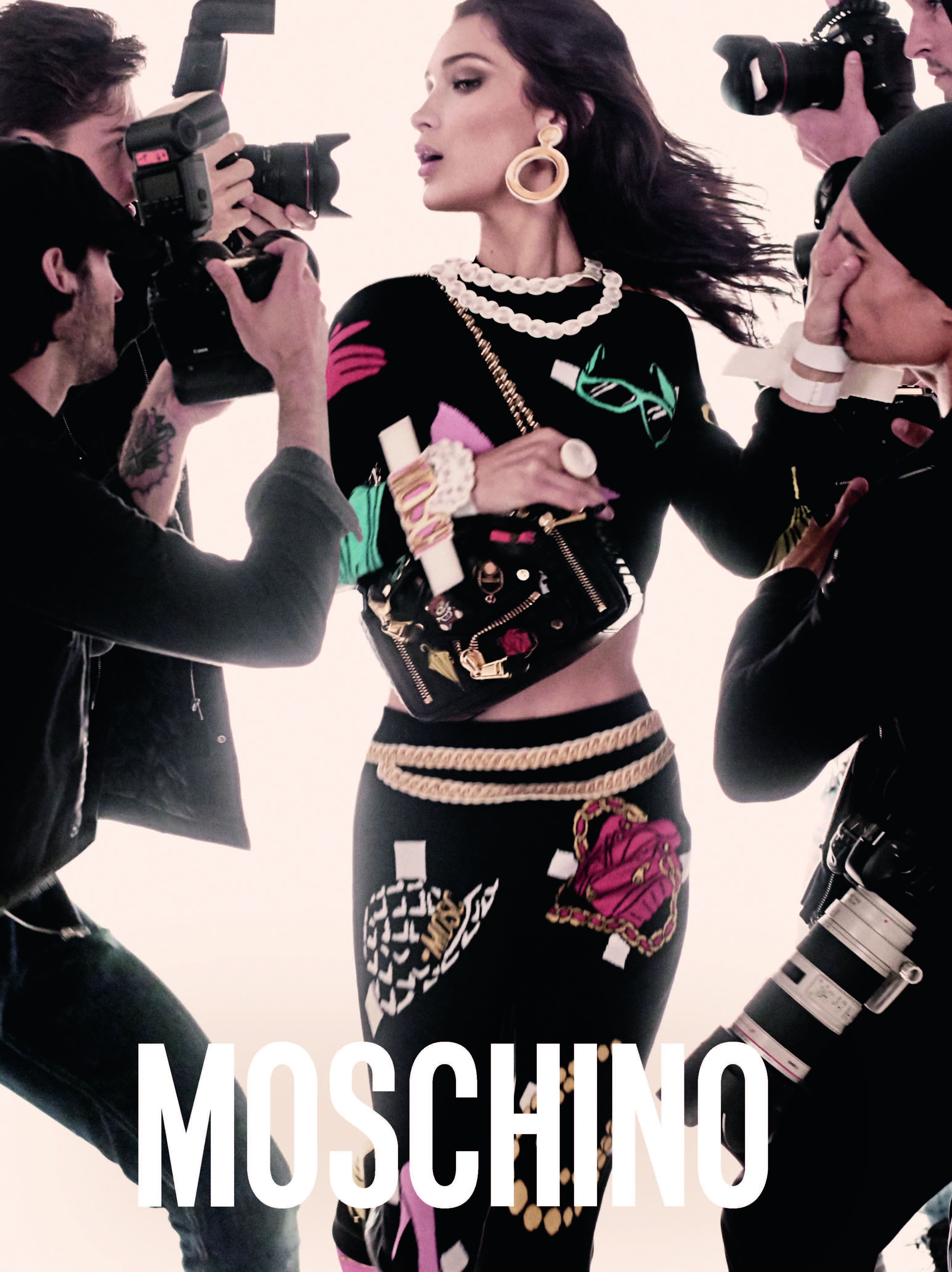 Bella Hadid stars in Moschino's Spring Summer 2017 campaign
