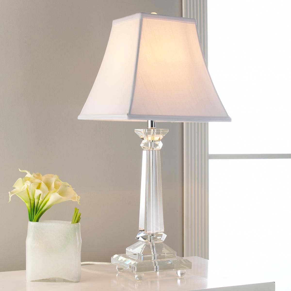 Lovely Tapered Square Crystal Column Table Lamp A Refreshing Crystal Lamp That  Goes In Every Room!