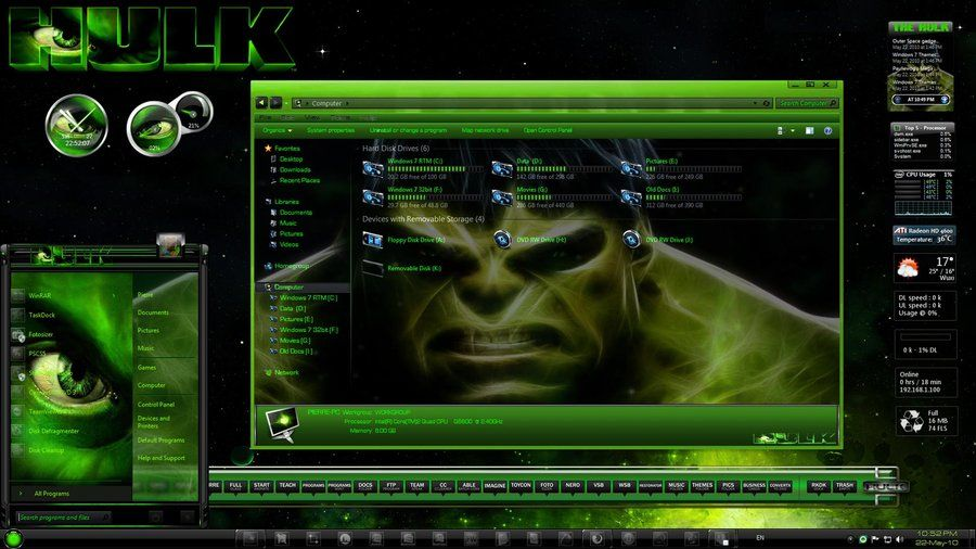 hulk rainmeter skin free download - Google Search | Projects