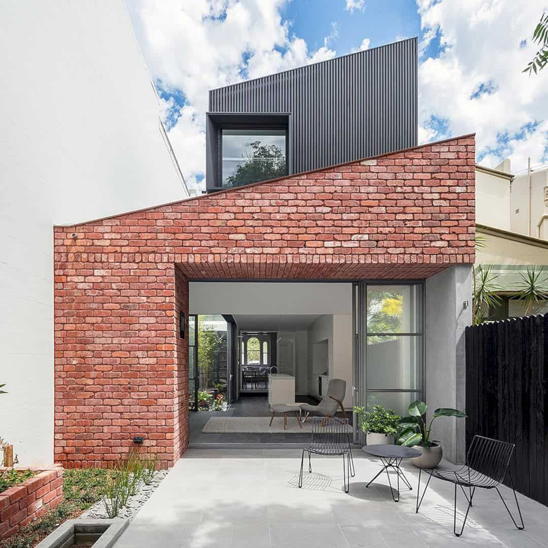 Glebe Red A Modern Living Place With A Victorian Terrace For A Large Inter Generation Family Modern Brick House Brick Exterior House Red Brick House Exterior