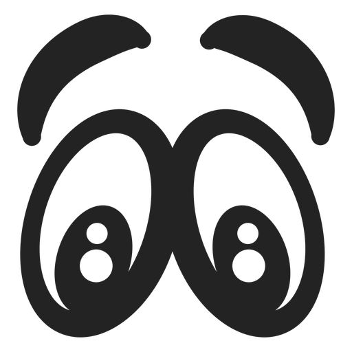 Scared Emoticon Eyes Transparent Png Svg Vector Emoticon Graphic Image Graphic Resources